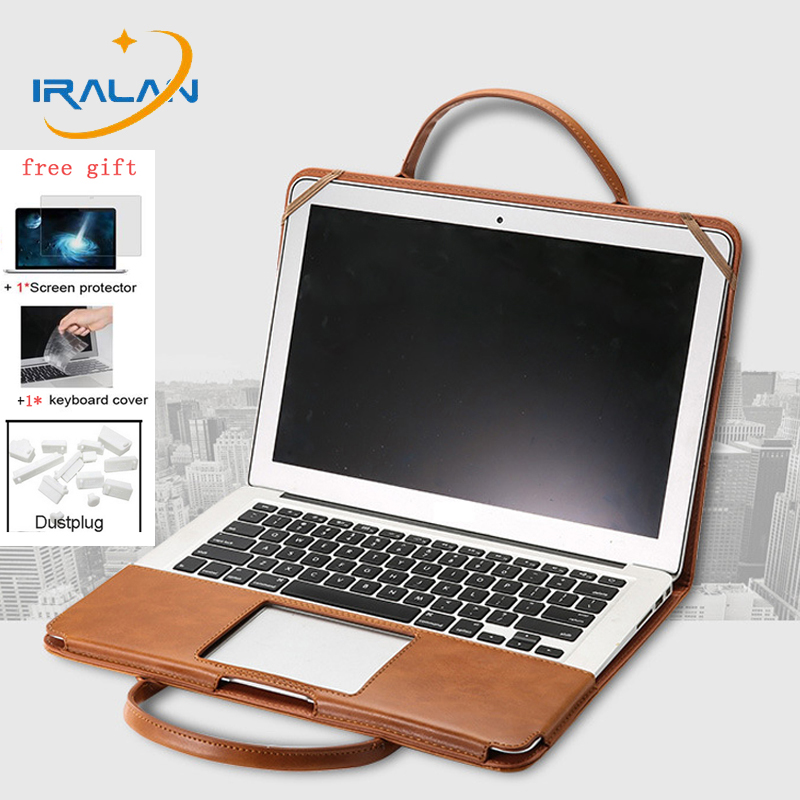 Fashion Handbag PU Laptop bag For Macbook Air Pro Retina 11 12 13 15 15.4 For Mac book 13.3 Touch Bar Case+Keyboard Cover+Film