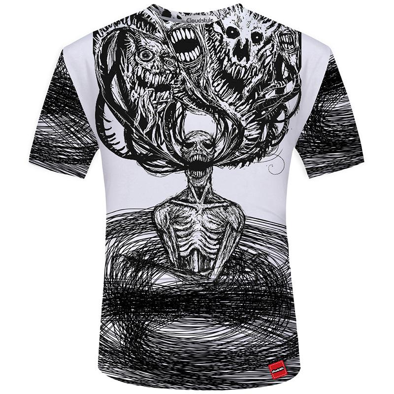 HTB1ycLdSFXXXXcPXXXXq6xXFXXXM - Men's New Fashion 2018 - Quality 3D Skull Print Design Stylish Casual T-Shirt