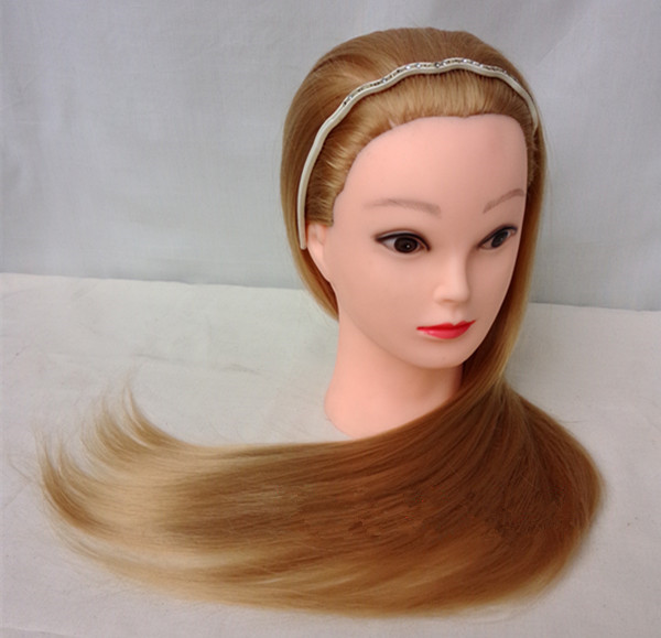 mannequin hair styling heads mannequin with hair 20inch brown hair styling 3779