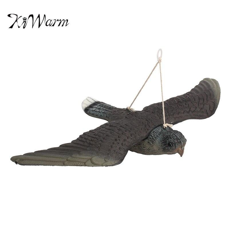 KiWarm Flying Hawk Owl Decoy Pest Control Repellent Garden Deter Scarer Scarecrow Ornament Craft
