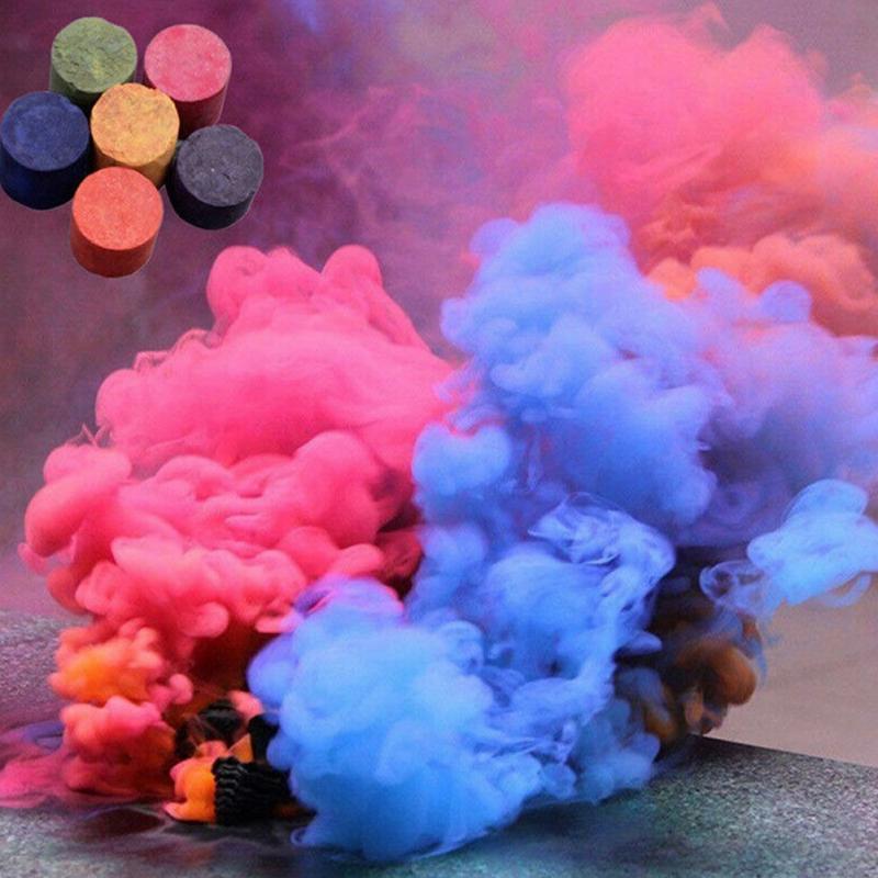 Torta Fumo Effetto Spettacolo Prop Colorful Rainbow Nebbia Pellicola Che Fanno Rotonda Fai Da Te Fotografia Aid Accessorio Festival Street Carnevale Decor