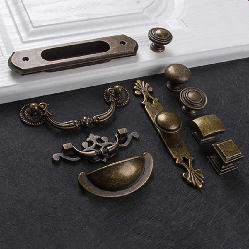 Europejski z brązu uchwyty do szafek Home Decor sprzęt meble antyki uchwyt gałki do szuflada do szafki drzwi do szafy multi-type