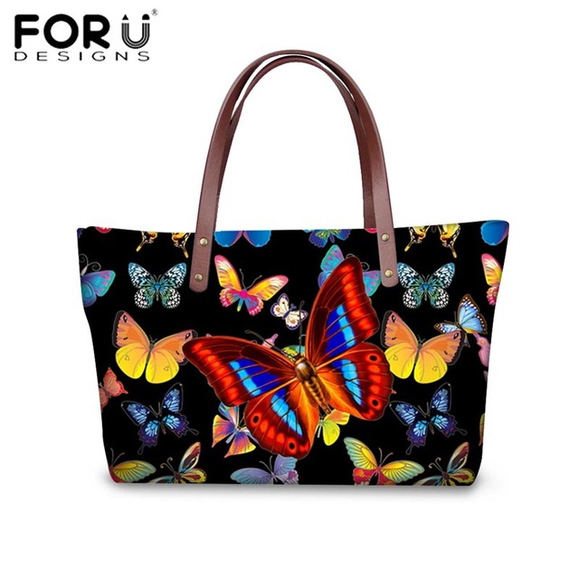 Forudesigns Pretty Women Handbags Charms Erfly Tote Bags Designer Crossbody For Las S Casual Beach