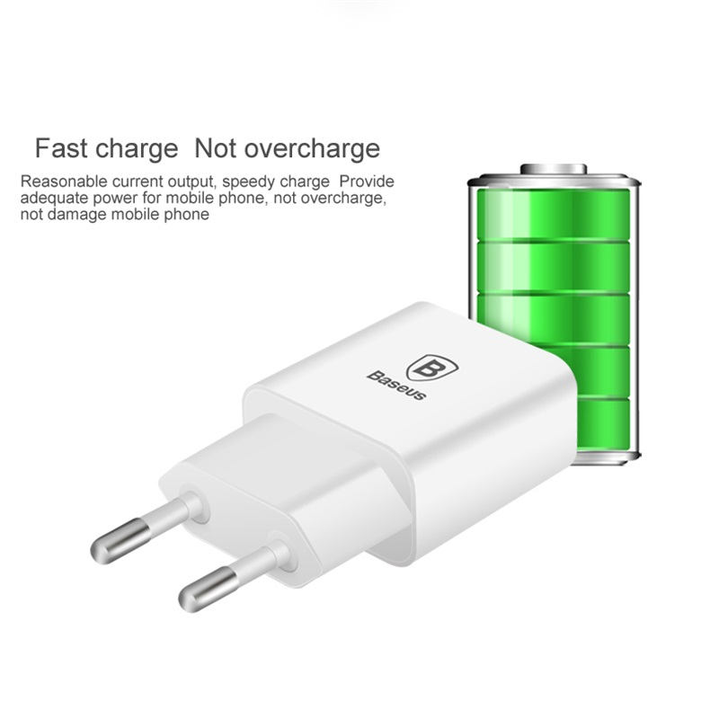Image 4 - Baseus 5V 2.1A EU Plug Mini USB Charger for Samsung Xiaomi Mobile Phone Charger Adapter Travel Wall Charger for iPhone Charger-in Mobile Phone Chargers from Cellphones & Telecommunications