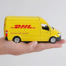 15CM 1:36 Scale Toy Car Metal Alloy Commerical Vehicle Express DHL Pull Back Diecasts Truck Model Toys For Kids Collection недорого