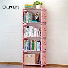 Многослойная простая креативная книжная полка, полка для хранения книг, растений, мелочей, сделай сам, детский книжный шкаф, стеллаж для домашней мебели