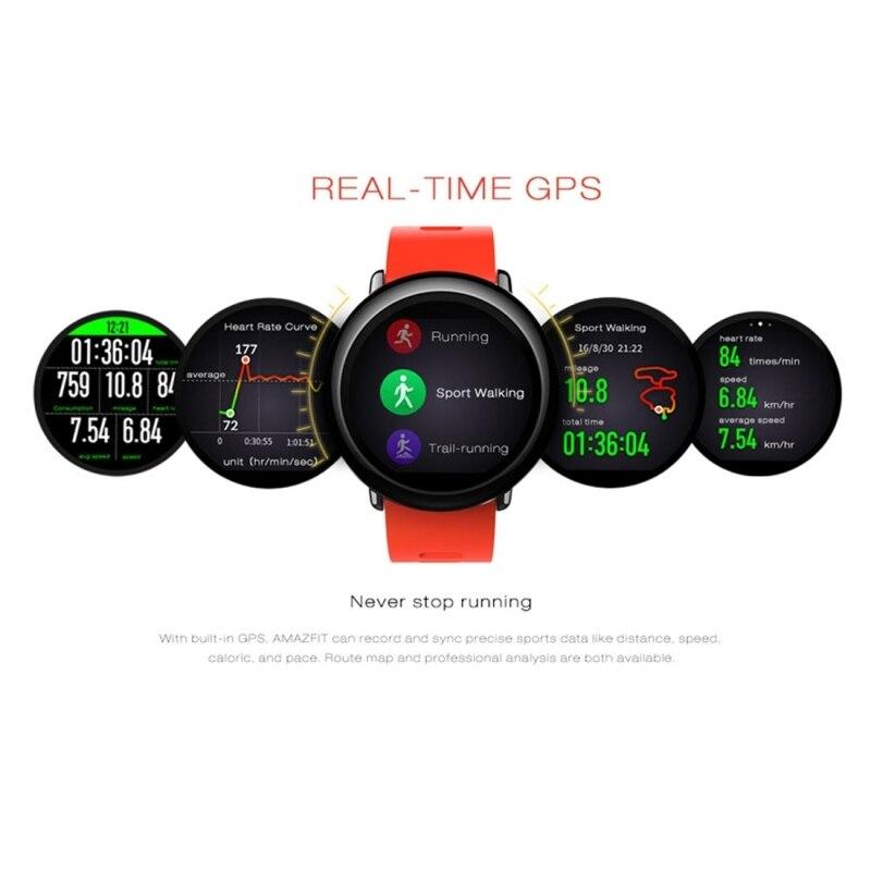 Xiaomi Huami Amazfit Waterproof Sport Watch Real time GPS GLONASS Heart Rate Pulse Bluetooth Wi-Fi Smart Watche English Watch huami amazfit heart rate smartband