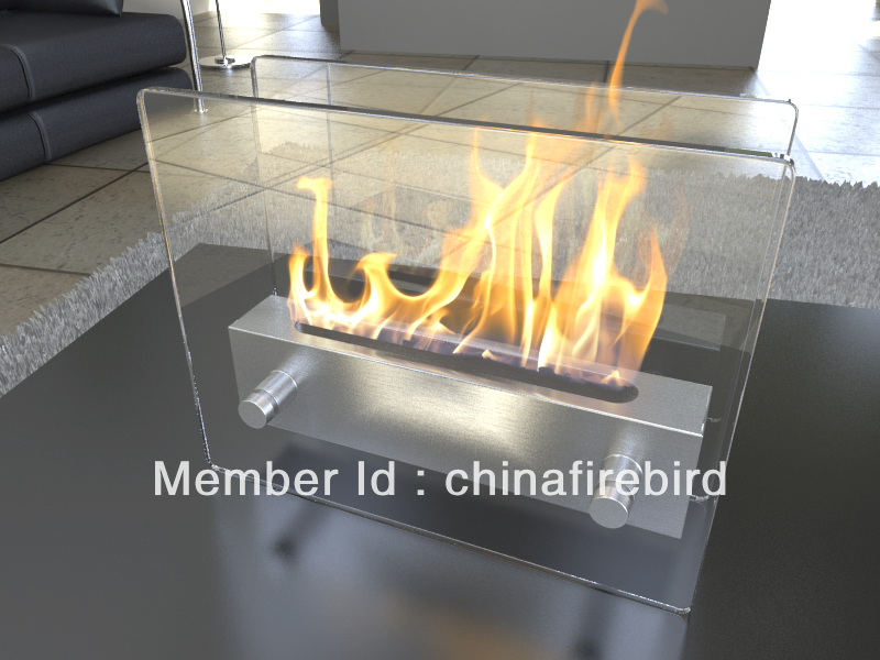 ethanol fireplace FD47 + stainless steel + table top model(China (Mainland)) - Online Buy Wholesale Ethanol Fireplace From China Ethanol