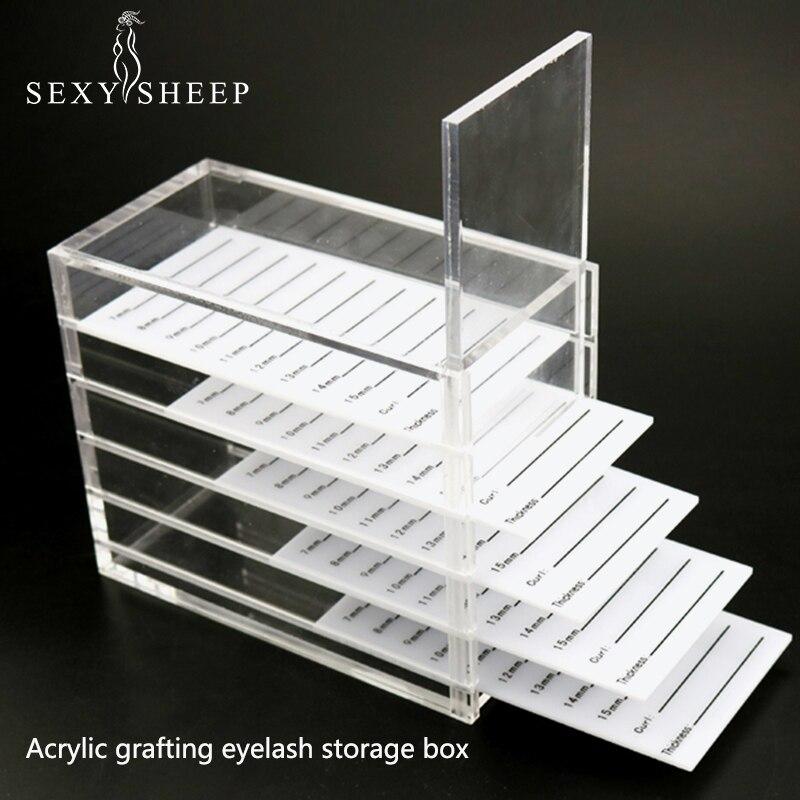 SEXYSHEEP Eyelash Extension Storage Box Eyelashes Organizer Acrylic Lash Plate Storage Organizer Holder Eyelash Extension Tools