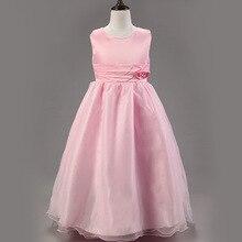 2015 новый дешевый цветочница длинное платье кружева малыши малыш платье для свадьбы шифона девочек одежда ну вечеринку без рукавов детей платье