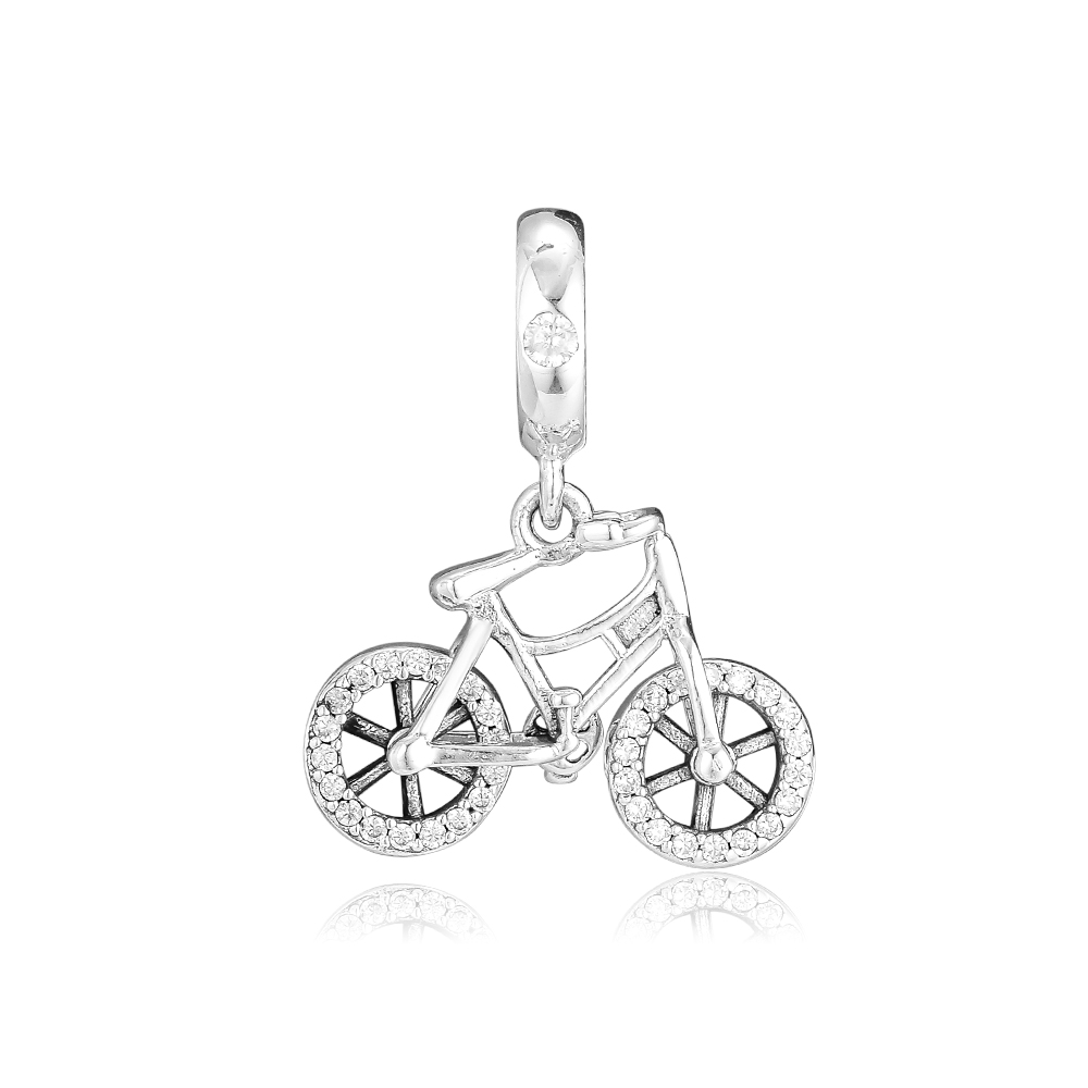 CKK Brilliant Bicycle Charms 925 Original Fit Pandora Bracelet Sterling Silver Charm Beads for Jewelry Making Bijoux BeadCKK Brilliant Bicycle Charms 925 Original Fit Pandora Bracelet Sterling Silver Charm Beads for Jewelry Making Bijoux Bead