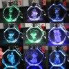 Аниме брелок светодиодный кристалл Детектив Конан в ассортименте