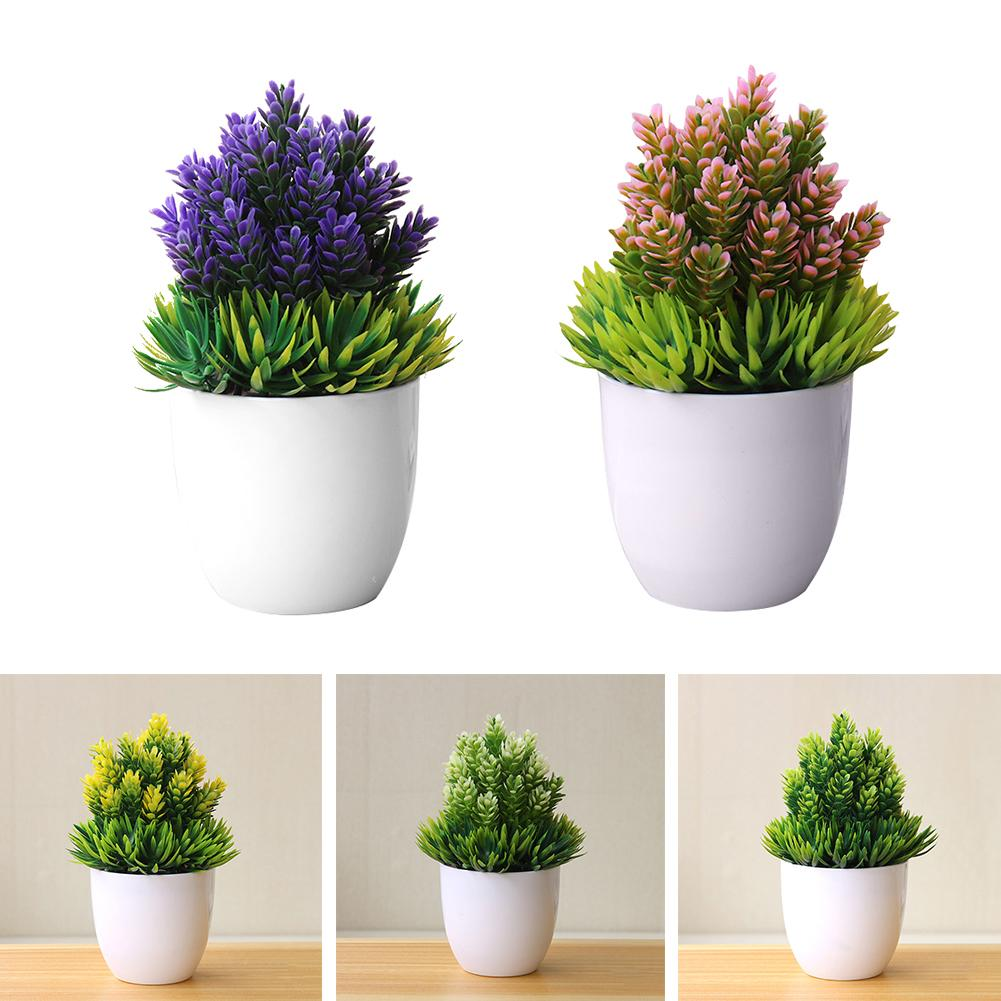 Fashion Artificial Small Tree Potted Plant Fake Bonsai Plants Table Simulation Decor Ornaments For Home Office Hotel Home Garden
