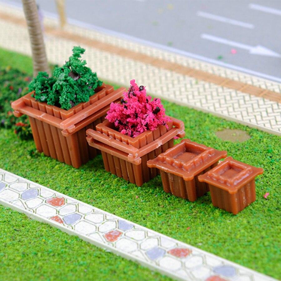 a6758bac8eec1a Kopen Goedkoop 10 stks partij 1 50 1 75 1 100 1 150 rode plastic n z schaal  Model Craft vierkante vaas voor kits Speelgoed Landschap en architectuur  diorama ...