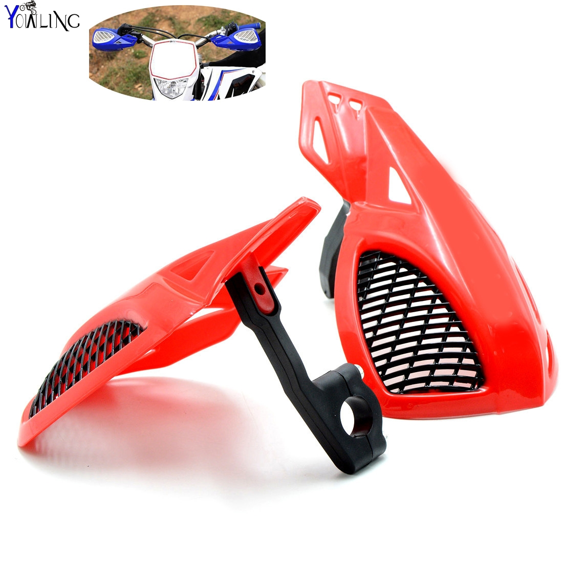 Dirt bike Motorcycle 7/8''22mm handlebar brake hand guard For HONDA XR CR CRF CRM 70F 80F 80R 85R 100F 110F 125R 150R dirt bike motorcycle 7 8 22mm handlebar brake hand guard for yamaha yz250x yz426f yz450f yz450fx yz80 yz85