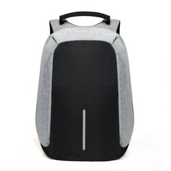 Рюкзак для ноутбука 15 дюймов, с usb-зарядкой, с защитой от кражи, Мужской Дорожный водонепроницаемый рюкзак, школьная сумка, мужской рюкзак