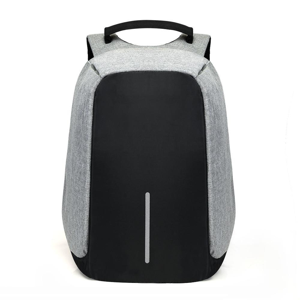 15 pulgadas Mochila portátil USB antirrobo Mochila hombres viaje Mochila impermeable bolsa de la escuela masculina Mochila