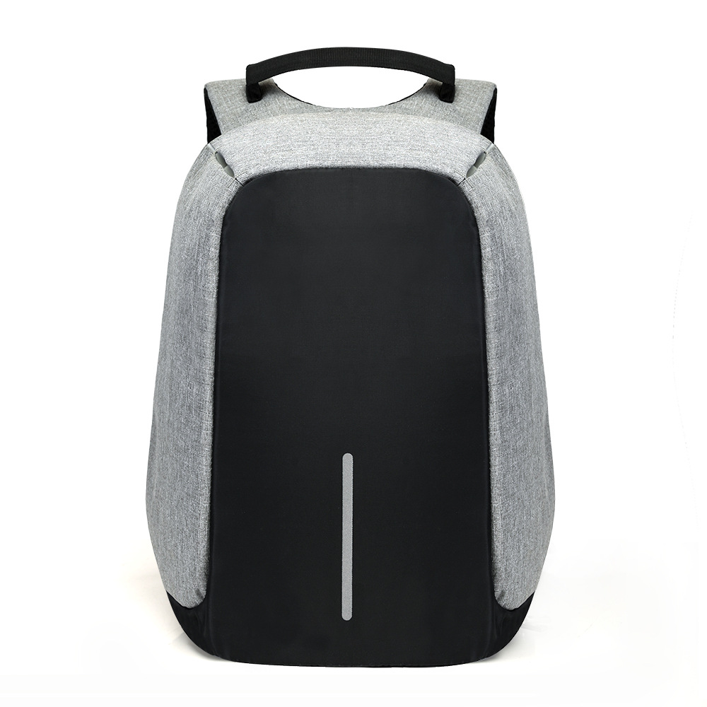 Mochila para ordenador portátil de 15 pulgadas con carga USB Mochila antirrobo para hombre Mochila de viaje impermeable Mochila escolar para hombre