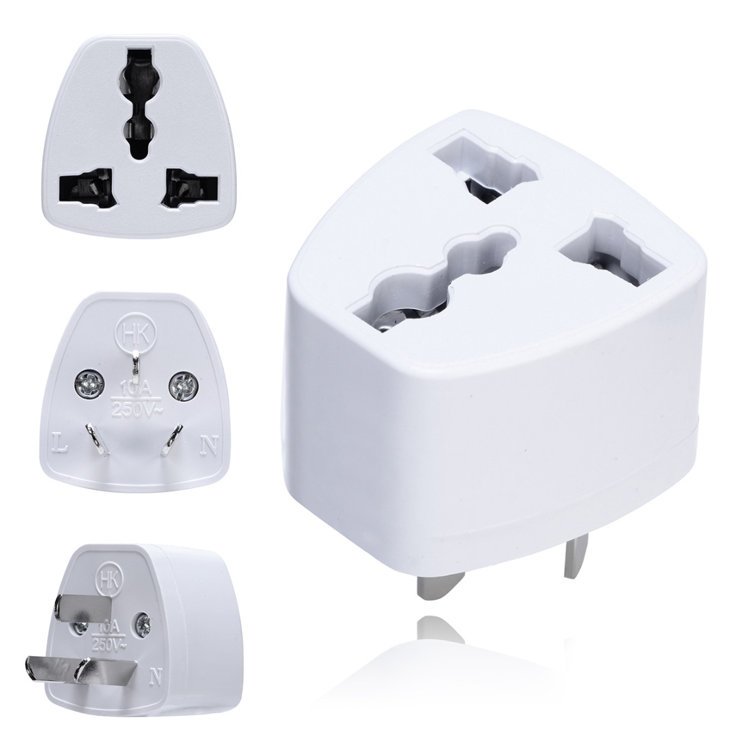 1pc Universal UK/US/EU to AU Adapter Portable Australia Travel Power Plug Adapter 3 Pin Converter 250V 10A for Electrical Plug
