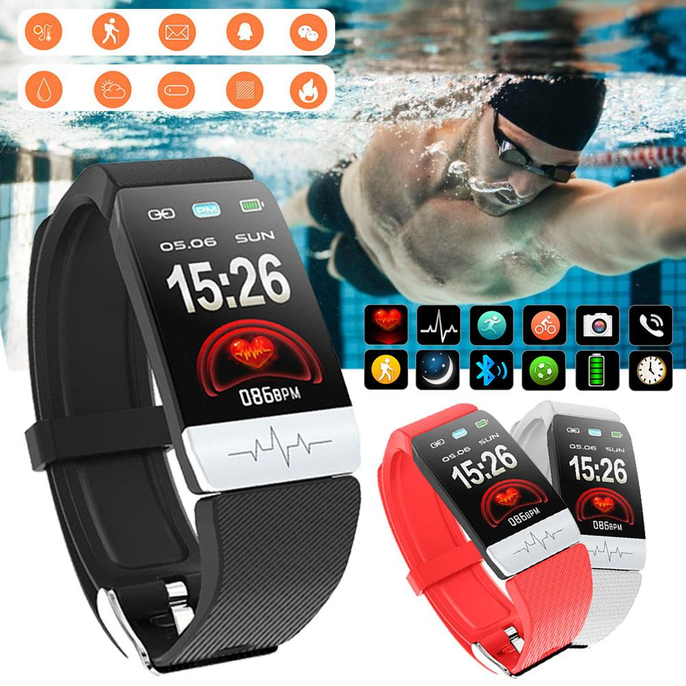 Q1S Fitness Tracker EKG PPG Wasserdicht Heart Rate Monitor Smart Band Wetter Prognose Smart Armband Für Männer Frauen # CW