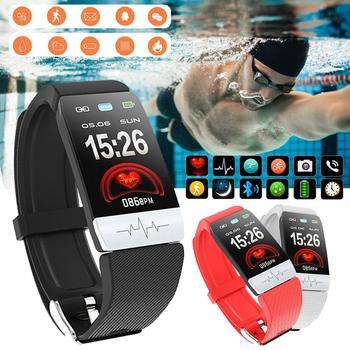 f269a696f4b7 C1 Plus pulsera inteligente Muit-Color pulsera contador de pasos rastreador  de ritmo cardíaco ...