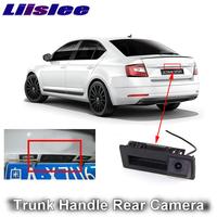 LiisLee for SKODA Octavia MK3 A7 2016 2017 2018 2019 Car Rear View Parking Reverse Camera Original Factory Trunk Handle Camera