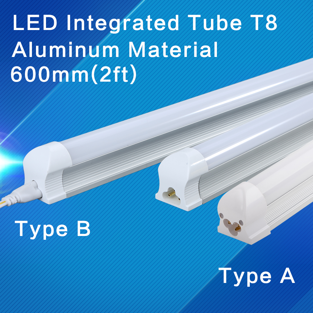 1 pcs led t8 integrated tube 9w lampade 10w lamp 600mm for Lampade led 220v