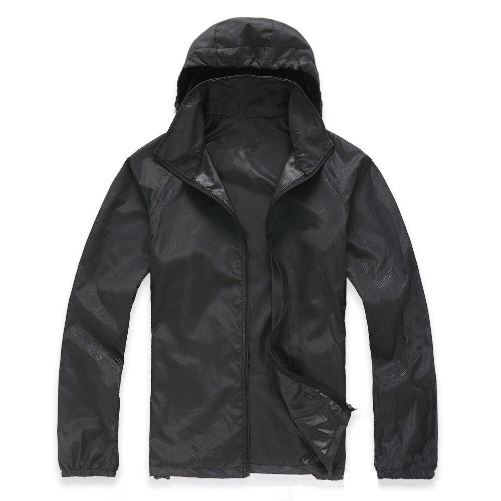 שחור לשני המינים עמיד למים Windproof ניילון אופני מעיל אופניים ריצה חיצוני ספורט גשם מעיל