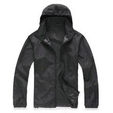 Black Unisex Waterproof Windproof Nylon Bike Jacket Bicycle Running Outdoor Sports Rain Coat