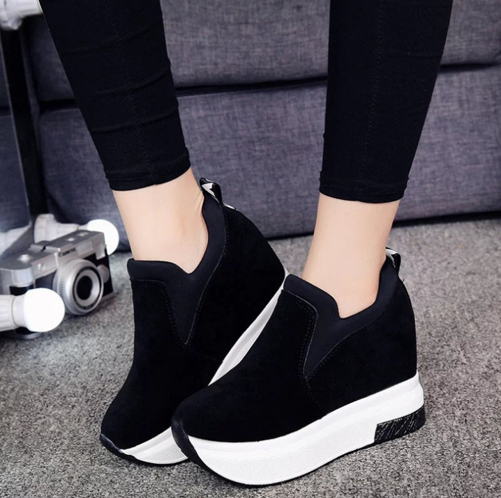 XEK 2018 Women Increased Shoes Women Fashion Platform Loafers Printed Casual Shoes Woman Wedges Shoes Breathable ZLL300 3
