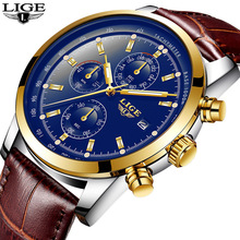 2018 New Watch Men Fashion Sport Quartz Clock Mens Watches Top Brand Luxury Business Leather Waterproof Gold Watch Relogio Man цены онлайн