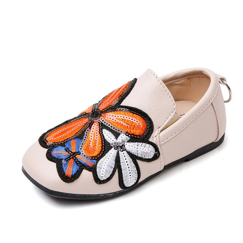 Girls single shoes children 2018 autumn new childrens shoes casual soft bottom comfortable breathable childrens Peas shoes