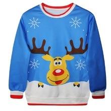 Deer Digital Printing Cute Pullover Polo