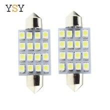 100 шт. 31 мм 36 мм 39 мм 41 мм 16SMD 1210 3528 Светодиодный ламповая гирлянда светодиодная гирлянда интерьерная лампа для плафона лампы