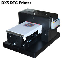2018 newest DTG DX5 printhead A3 size R2000 textile t-shirt printer with rip software inkjet flatbed printer for textile print