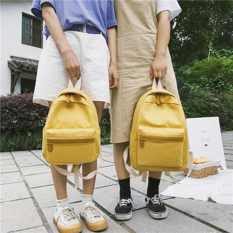 HTB1ycOoXU rK1Rjy0Fcq6zEvVXam 2019 Women Canvas Backpacks Ladies Shoulder School Bag Backpack Rucksack for Girls Travel Fashion Bag Bolsas Mochilas Sac A Dos