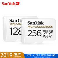 Cartão alto do microsd da monitoração 32 gb 64 gb do vídeo da resistência do cartão de memória de sandisk cartão sdhc/sdxc class10 40 mb/s tf para a monitoração video