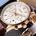 2016 Moda OCHSTIN Função CRONÓGRAFO Data Dos Homens Relógios Top Marca de Luxo Relógio Do Esporte Relógio de Pulso de Quartzo Dos Homens de Negócios de Couro