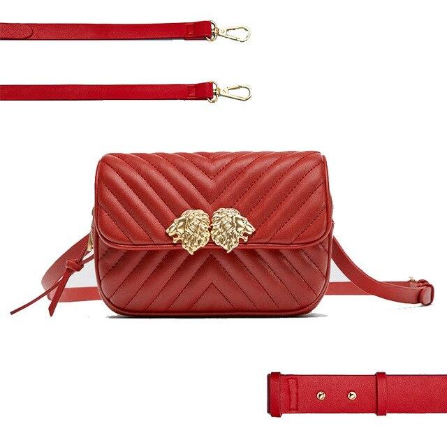 de17e9ebd431 2018 Luxury Brand Designer Waist Bag PU Leather Women Belt Bag Elegant Fanny  Pack for Lady 3 Way Travel Bag Large Capacity Bolsa