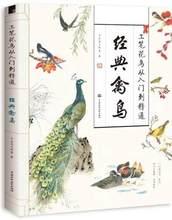 زهور وطيور بفرشاة ناعمة من كتاب أولي إلى كتاب مدرسي جيد/كتاب فني للطيور كلاسيكي صيني 127 صفحة