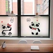 Cartoon panda window Stickers Stained Glass Film electrostatic Custom Privacy kitchen kids room Self-Adhesive decorative films
