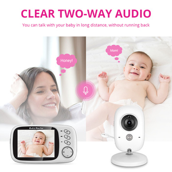 VB603 Wireless Video Color Baby Monitor 3.2 Inch High Resolution Night Vision Temperature Monitoring Baby Nanny Security Camera 1