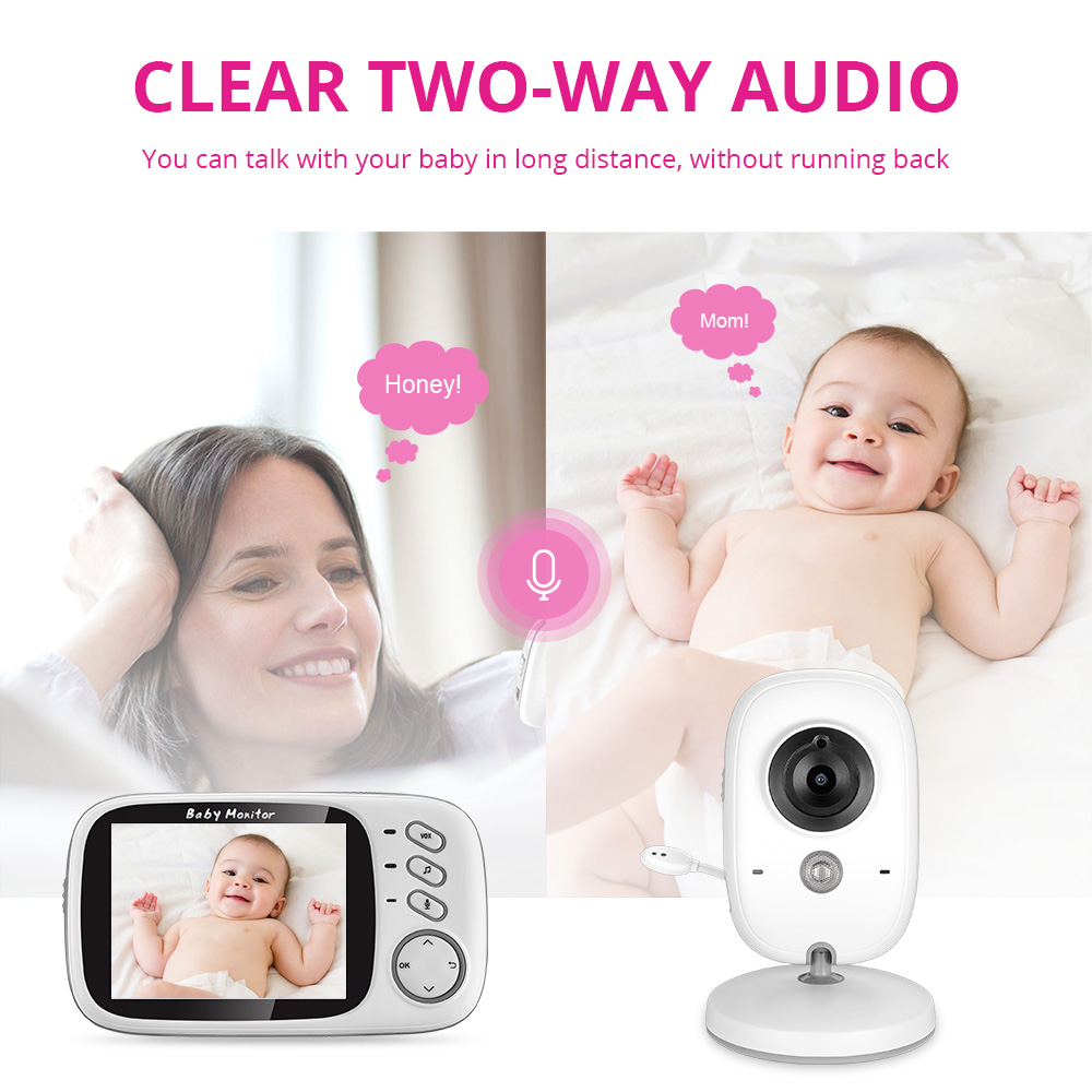 Image 2 - VB603 Wireless Video Color Baby Monitor 3.2 Inch High Resolution Night Vision Temperature Monitoring Baby Nanny Security Camera-in Baby Monitors from Security & Protection