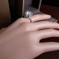أزياء نسائية 3ct سوليتير خاتم ، مايكرو تمهيد الإعداد ، النحاس الروديوم مطلي المرأة خاتم الزواج ، R0992