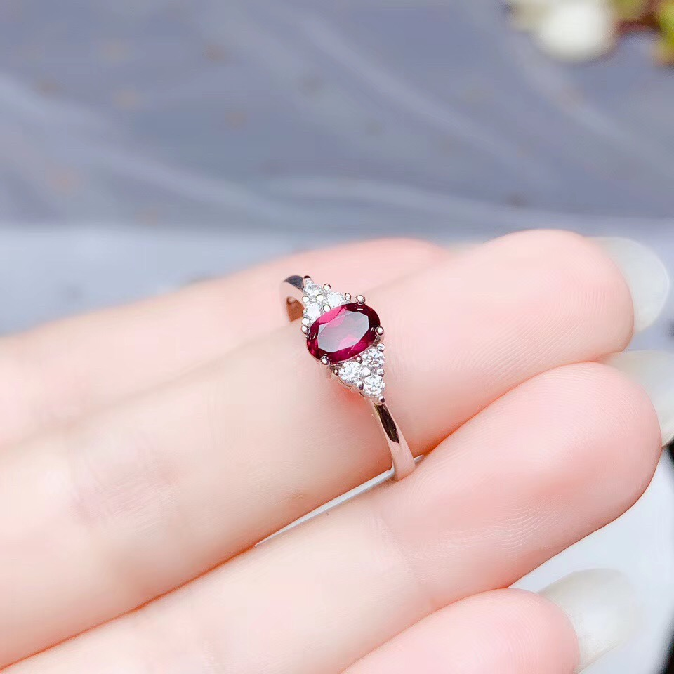gift for Her Black Onyx Gift ring Gift for girlfriend Love Promise Gift Ring Natural Red Garnet Gift Ring Personalized Gift