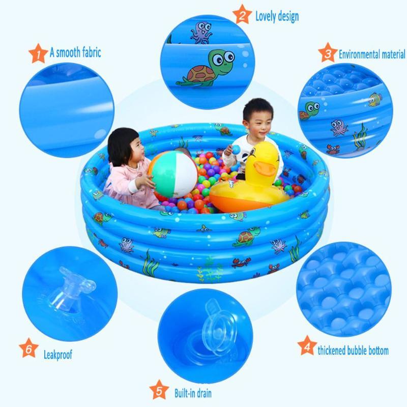 Enfants salle de bain piscine titulaire piscine salle de bain enfants bain impression nouveau-né bébé douche baignoire gonflable pour enfant cadeau - 3