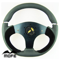 SPECIAL OFFER Original Logo 350mm 14 Inch Suede Leather Steering Wheel For Sport Car