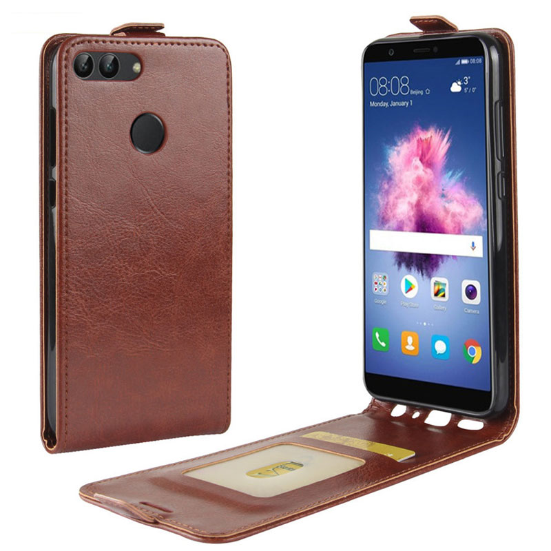 Vertical Flip Cover for Huawei Enjoy 7S Case PU leather Case for Huawie P Smart Protective Phone Bag & Cases Card Slots ...