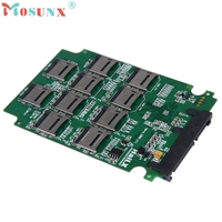 10 x Micro SD TF Memory Card to SATA SSD Adapter + RAID Quad 2.5 SATA Converter