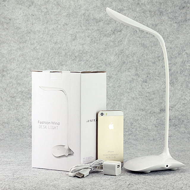Elinkume Led Reading Eye Protection Small Desk Lamp With Clip Three Level  Brightness Switch Dimmer Table